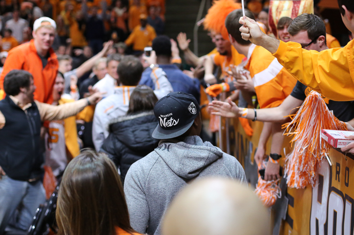Bussey is greeted by fans during his official visit over the weekend.