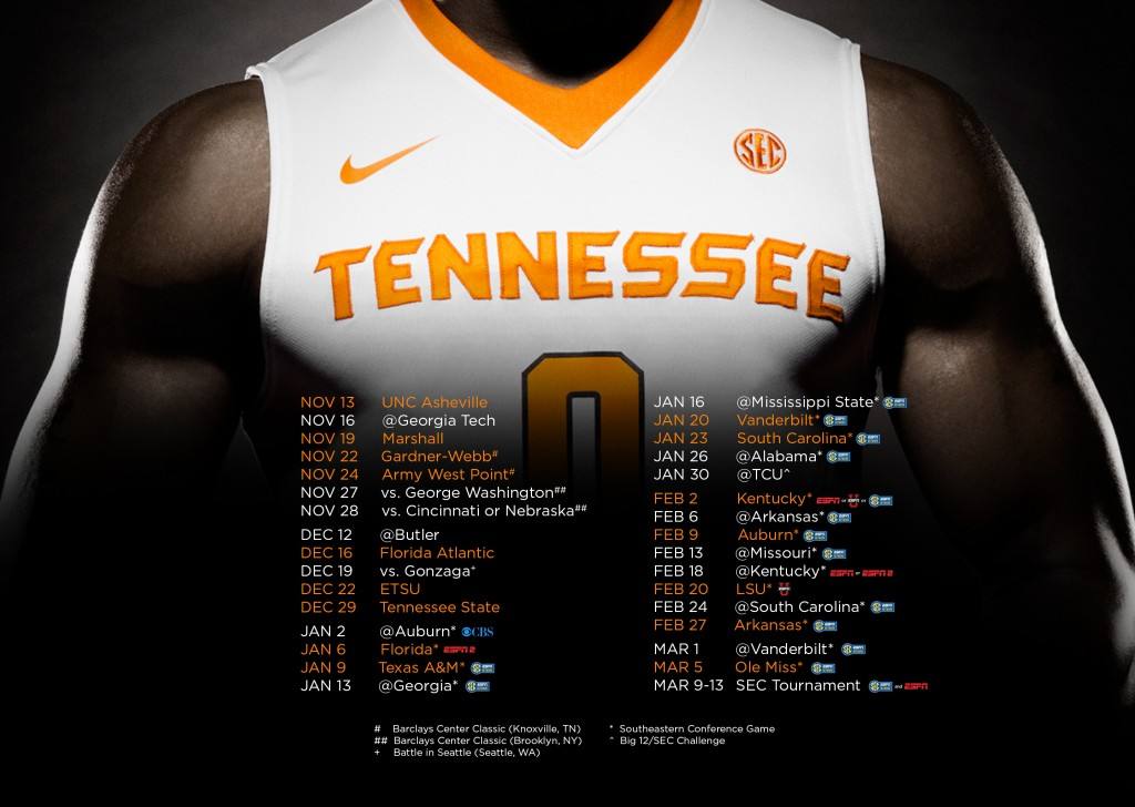 Tennessee Basketball Schedule