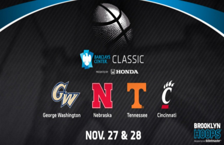 Tennessee to play George Washington in Barclays Center Classic