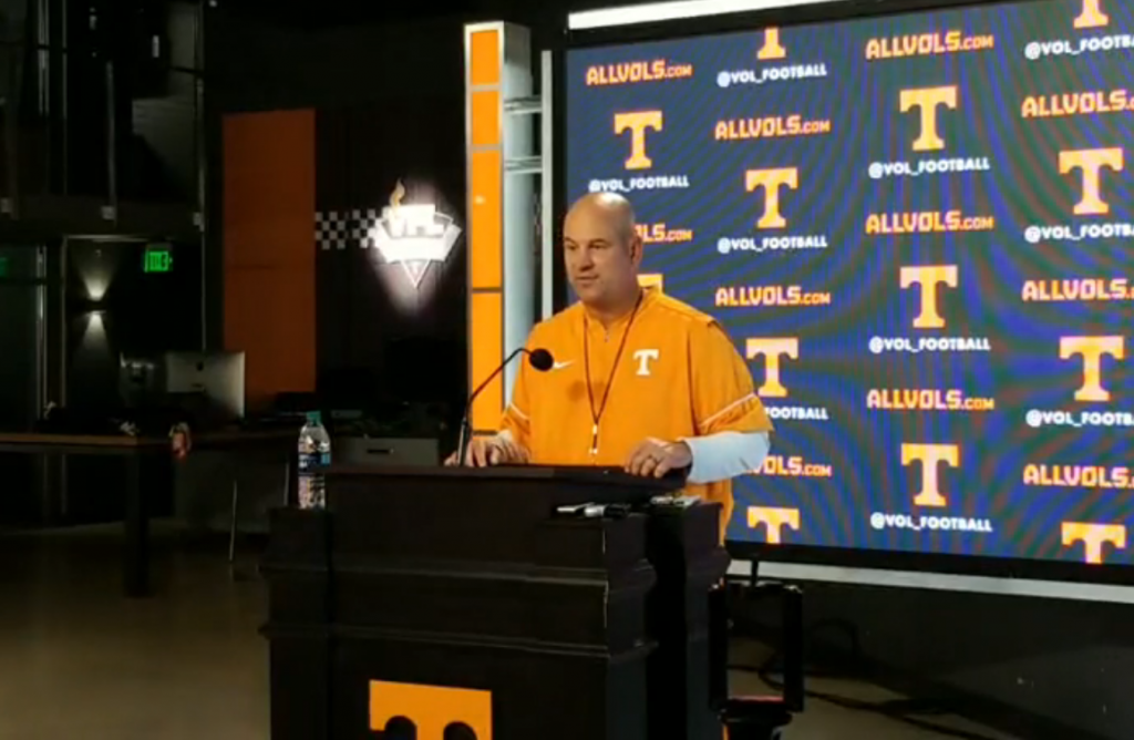 Video: Jeremy Pruitt Discusses 1st Day of Vols' Fall Camp ...