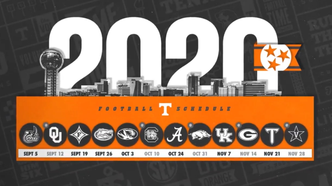 Tennessee Announces Full 2020 Football Schedule | Rocky Top Insider
