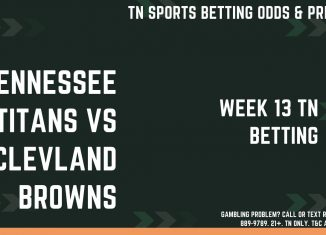 Titans vs Browns week 13 betting odds